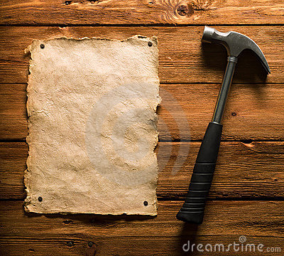Old Paper and Hammer