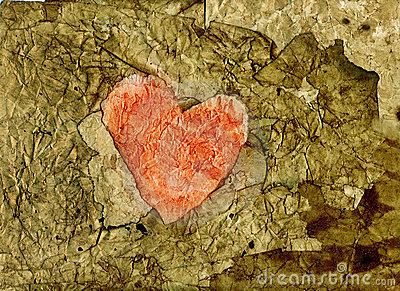 Old paper heart