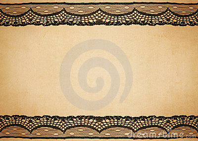 Old paper with lace design