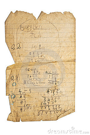 Old Paper With Math
