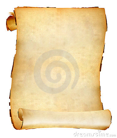 Free Old Paper Scroll Royalty Free Stock Photos - 22118278