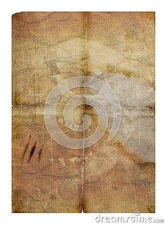 Old paper & skull