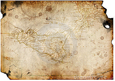 Old Paper With Treasure Map Royalty Free Stock Photos