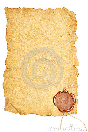Free Old Paper With A Wax Seal Stock Images - 16774914