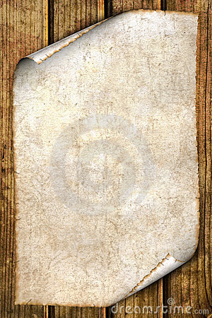 Old paper on wood