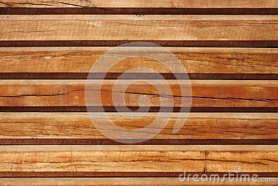 Old parallel wooden logs