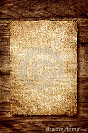 Free Old Parchment On Wood Stock Photos - 15221983