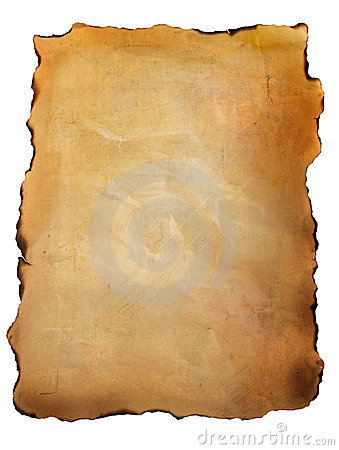 Free Old Parchment Paper Against White Stock Images - 16391404