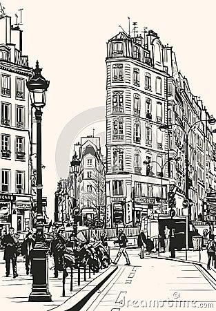 Old Paris near Saint Denis