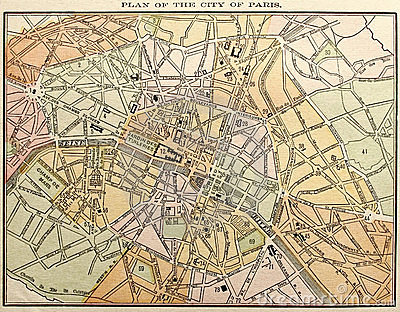 Old Paris Street Map