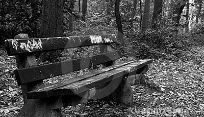 Two Old Park Benches Stock Photo - Image: 53544176