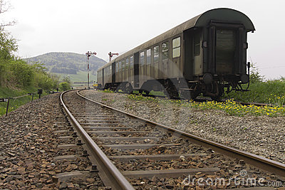Old passenger train
