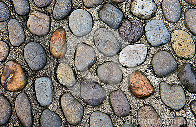 Old pebble stones