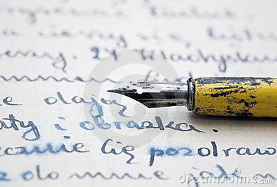 Old pen and letter
