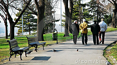 Old people in park