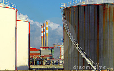 Old petrochemical refinery