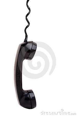 Free Old Phone Handset Hanging Royalty Free Stock Photo - 18665405
