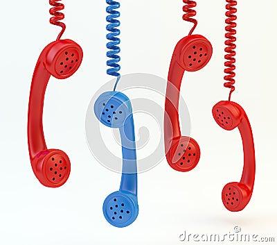 Old phone handsets