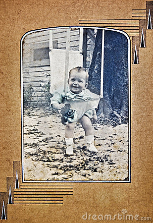 Old Photo of a Baby Outside