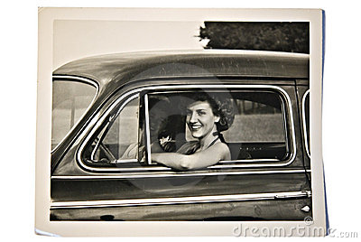 Old Photo / Women in a Car