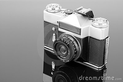Old photographic camera