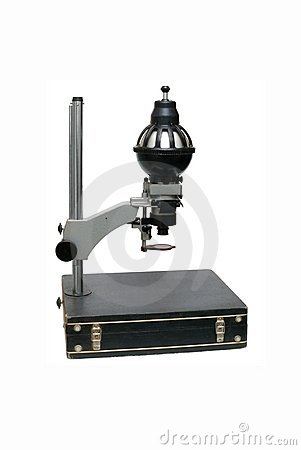 Old photographic enlarger