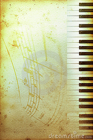 Free Old Piano Paper Stock Photos - 7323273
