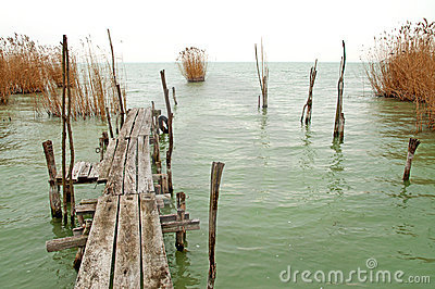 Old pier at Lake Balaton ,Hungary