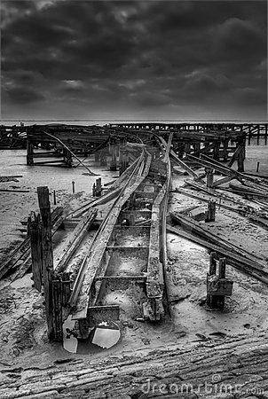 Old pier railway line