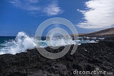 Old pier at Whittington Beach Park,  hawaii