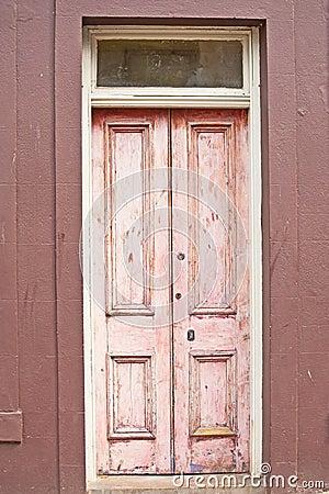 Free Old Pink Wooden Door  Royalty Free Stock Photos - 25576738