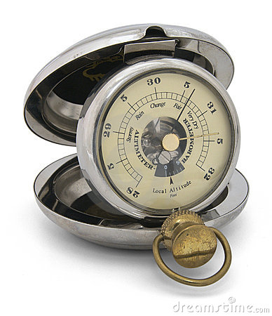 Old pocket barometric altimeter