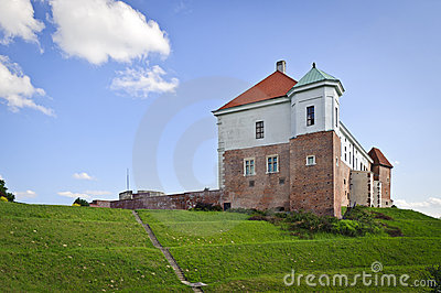 Old Polish Kings castle in Sandomierz, Poland