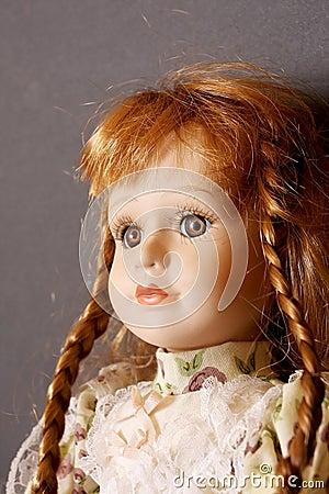 Old porcelain doll