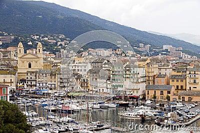 Old port Bastia Corsica St. John Baptist church