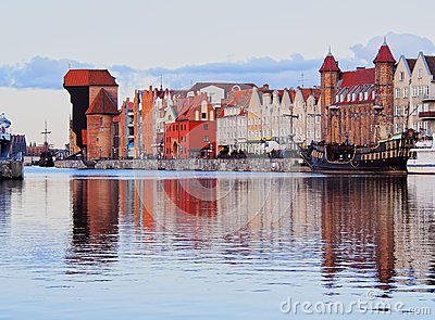 Old Port Crane in Gdansk, Poland Editorial Stock Photo