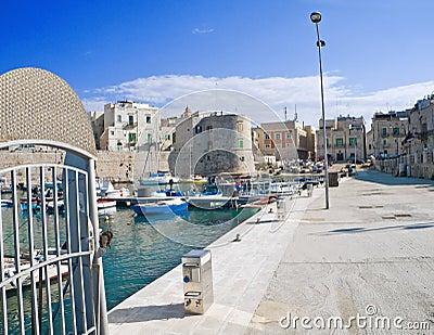 The old port of Giovinazzo. Apulia.