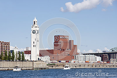 The Old Port of Montreal - Molson Brewery Editorial Photography