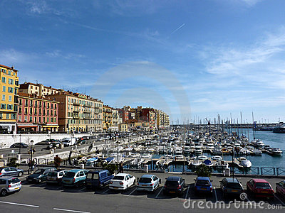 Old port at Nice, France