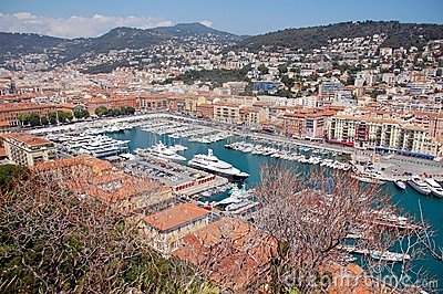 Old port of Nice, France. General view