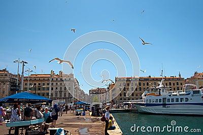 Old port (Vieux Port) Editorial Photo