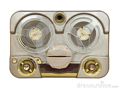 Old Portable Tube Tape-Recorder