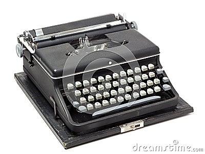 Old portable typewriter