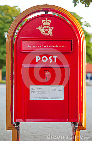 Old post box Editorial Photography