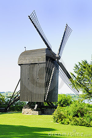 Old Post Mill Royalty Free Stock Image - Image: 9524046