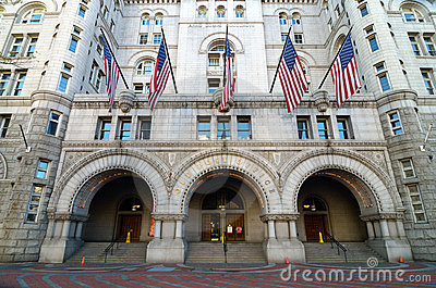Old Post Office building, Washington DC USA Editorial Stock Image
