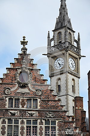 Free Old Post Office Tower In Ghent, Belgium Royalty Free Stock Images - 47061859