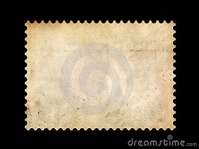 Old postage stamp border