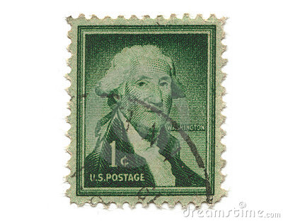 Old Postage Stamp From Usa One Cent Royalty Free Stock