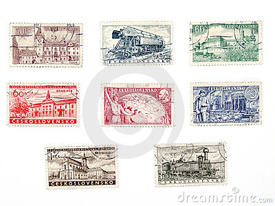 Old postage stamps from Czechoslovakia